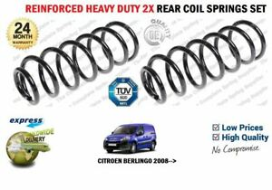 FOR CITROEN BERLINGO BOX VAN 2008-> 2X REAR HEAVY DUTY REINFORCED COIL SPRINGS