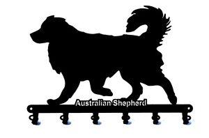 Schlüsselbrett Australian Shepherd - design Hunde Hakenleiste aus Stahl