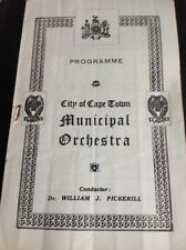 G7-1 Programme Sth Africa City Of Cape Town Municipal Orchestra June 11th 1944