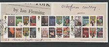 GB 2008 Ian Flemming James Bond MINISHEET fine used set stamps on Piece