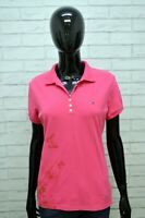 TOMMY HILFIGER Maglia Polo Donna Taglia L Maglietta Manica Corta Shirt Women