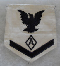 """WWII 3RD CLASS """"A"""" IN DIAMOND RATE USED BY ATHLETIC INSTRUCTORS ON WHITE"""