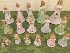Enesco vintage Growing up Birthday girls complete set 1 - 16 No Boxes