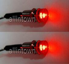 Red Dash LED Indicator Lights Interior Pilot Warning Custom Hot Rod Boat Bulbs