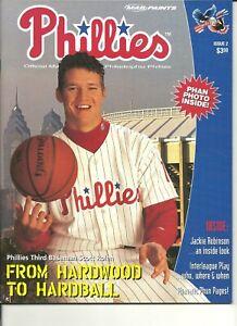 1997 Philadelphia Phillies Game Program MLB Magazine Scott Rolen Veterans Stad