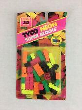 Rare Vintage 1992 Tyco Neon Super Blocks Sealed!