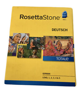 Rosetta Stone TOTALe German Deutsch Version 4 Levels 1-5 PC CDs COMPLETE