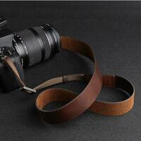 Vintage Genuine Leather Camera Neck Shoulder Strap Belt for DSLR Nikon Canon