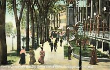New York, NY, Saratoga Springs, Broadway, US Hotel 1910's Postcard