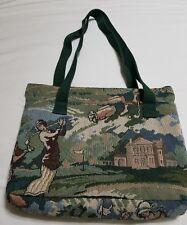 Golf Tapestry Tote Bag Shoulder Purse Pocketbook