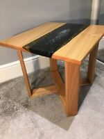 Oak Resin river Side Table Coffee Table (galaxy)