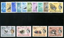 Ascension 1963 QEII Birds set complete very fine used. SG 70-83. Sc 75-88.