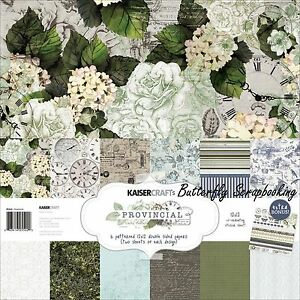 KaiserCraft Provincial 12x12 Paper Pack Collection Wedding Spring