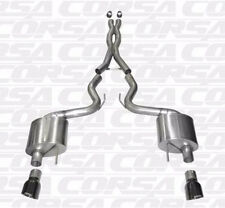 """CORSA 14328BLK Xtreme Cat Back 3"""" Exhaust Black Tips for 2015 + Mustang GT 5.0"""