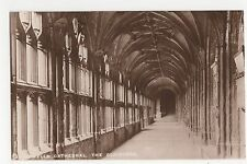 Somerset, Wells Cathedral, The Cloisters Real Photo Postcard, A813