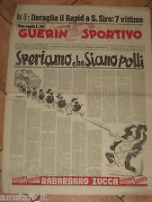 GUERIN SPORTIVO 1956/7 SPERIAMO CHE SIANO POLLI