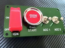 Switch Panel Start Ignition Boat Rally F2 Marine HOT ROD Stock Kit Car A+2 Green