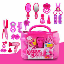 Kids Girls Pretend Play Hair Dryer Makeup Toy Set Beauty Fashion Princess Gift