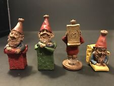 Vintage Set of 4 Tom Clark Creations Lucky Penny Gnomes Box Trolls