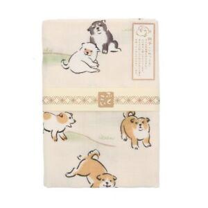 Japanese Cotton Tenugui Headband Hand Towel Bento Cloth Kawaii Playful Puppies