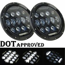 LED Headlamp Headlights Black Upgrade Set For Ford Plymouth Classic Car Truck