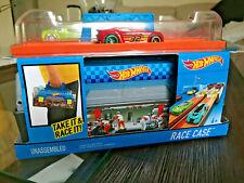 Hot Wheels Race Case Track Set juguete niños carritos