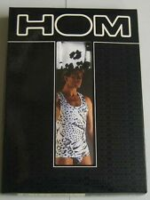 "HOM Hasting vest 1990's 44"" size XL, white with black animal print"