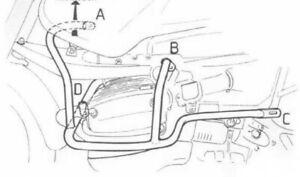 BMW R 1150 GS Bj 00 bis 04 Motorrad Motorschutzbügel Hepco Becker schwarz NEU