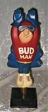 Vintage Budweiser FLYING BUDMAN Handle BEER TAPPER on Stand(Tap Handle)