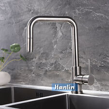 Pull Out Sprayer Kitchen Sink Mixer Tap Faucet High Quality Brushed Nickel Brass