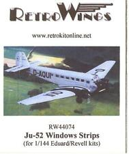 RetroKits Models 1/144 JUNKERS Ju-52 WINDOW STRIPS Resin Conversion Set