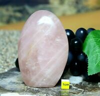 Rose Quartz Polished Freeform - Large Natural Raw Mineral Healing Specimen 438g