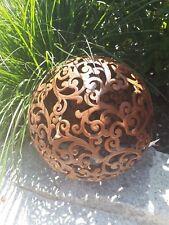 Barock Kugel 24 cm Metall Garten Terrasse Dekoration Edelrost Schale Beet 28107