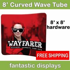 8ft Curved Tube Wavy Pop Up Graphic Display Hardware - Trade Show Backdrop