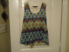 Ocean Drive Sz M Netting Racerback Blouse Blue and Other Lightweight Sleeveless