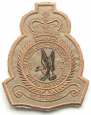 RAF No.201 Squadron Desert Colours Royal Air Force Embroidered Crest Badge Patch
