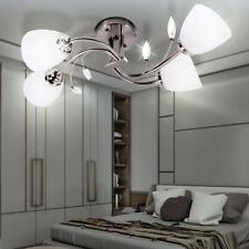 Wand Leuchte Landhaus Stil Florentiner Decken Lampe Ess-Zimmer Glas Beleuchtung