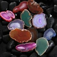 Natural Agate Polish Crystal Slice Irregular Brazil Healing Reiki Stone Pendant