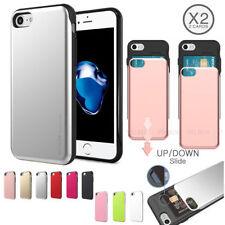 Rigid Plastic Mobile Phone Wallet Cases for iPhone 6s Plus