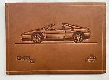 FERRARI 348 TS | SCHEDONI LEATHER PRINT | PLATE | CARD | RARE COLLECTORS ITEM