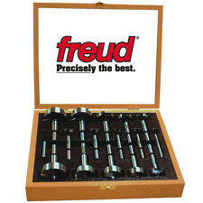 Freud PB-100 1/4 to 2-1/8-Inch Precision Shear Flat Forstner Drill Bit Set 16pc