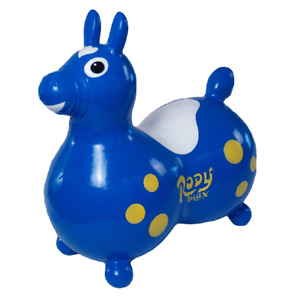 GYMNIC Rody Max Inflatable Hopping Horse Toy w/ Pump - Blue