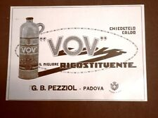 Pubblicità del 1924 Liquore VOV Il migliore ricostituente G.B.Pezziol Padova
