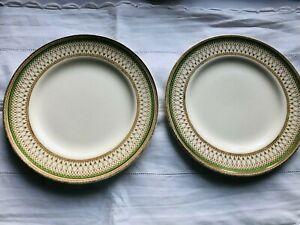 "Two J & G Meakin ""Westminster"" 8"" Side Plates Vintage Cream Green ART NOUVEAU"