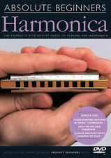 Absolute Beginners Harmonica Lessons Learn How to Play Harp Music Video Dvd New