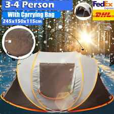 3-4 Person High-end Automatic Pop Up Camping Tent Waterproof Hiking Camping Tent