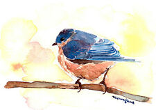 ACEO Limited Edition- Dream in blue, Bluebird, Gift for bird lovers