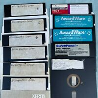 Micrographix McPaint SuperPrint AwardWare Graphics Software Lot 5.25 Floppy Disk