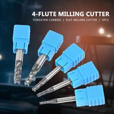 5pcs M2-6 HRC50 Tungsten Carbide Thread 4-flute Milling Cutter Tool End Mill Set