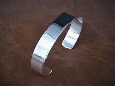 Men's Gents Solid 925 Sterling Silver Open Torque Bangle Bracelet